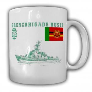 Tasse Grenzbrigade Küste GBrK Grenztruppen DDR NVA Marine Becher Kaffee #17478