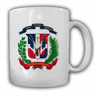 Dominikanische Republik Wappen Emblem República Dominicana - Tasse Kaffee #13463