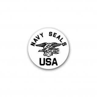 Aufkleber/Sticker Navy Seals USA Spezialeinheit US Sea Air Land Meer 7x7cm A2623