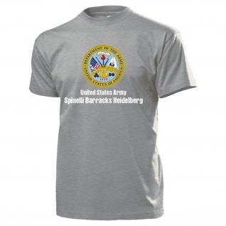 Spinelli Barracks Heidelberg United States Wappen Abzeichen - T Shirt #14185