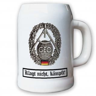 Krug / Bierkrug 0, 5l - Barettabzeichen Geoinformation Topographie #11824