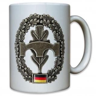 Pionier Abzeichen Bundeswehr Barett Wappen Eichenlaub Bataillon - Tasse #9548