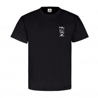 U-Boot 48 Marine Typ VII B 3x schwarzer Kater Logo - T Shirt #12778