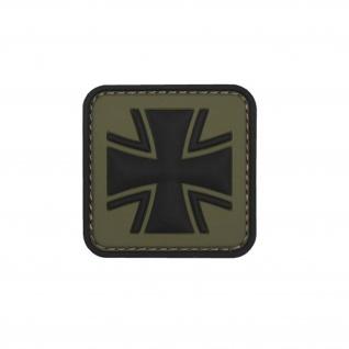 Oliv Balkenkreuz Patch 3D Rubber Bundeswehr Abzeichen Aufnäher Emblem 5cm #23046