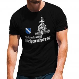 Schlachtschiff Scharnhorst Front KSM Schiff Geschützturm Hemd T-Shirt#32161