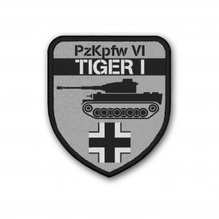 Patch PzKpfw VI Tiger I Panzer-Kampfwagen Aufnäher Klett#37157