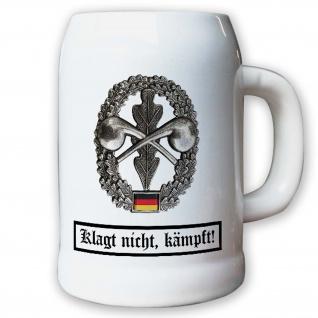 Krug / Bierkrug 0, 5l - Barettabezeichen ABC Abwehr BW Bundeswehr #10910