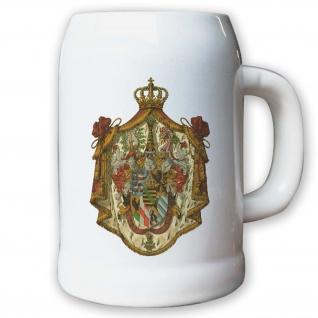 Krug / Bierkrug 0, 5l - Großherzogtum Sachsen-Weimar-Eisenach Adel Weimarer #9439
