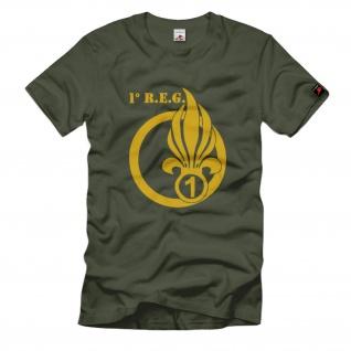 1 REG 1° Régiment Etranger de Génie Fremdenlegion Frankreich T Shirt #1478
