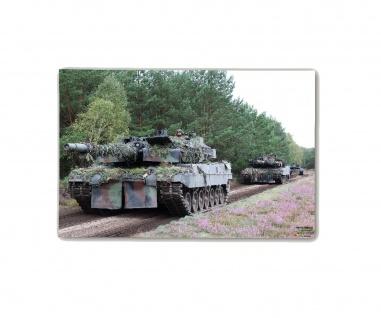 Poster M&N BW Leopard Zug Plakat Bundeswehr Panzer Deko ab30x20cm#30295
