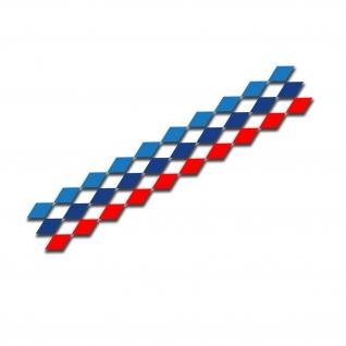 Rauten-Band Muster M Design Motorsport Aufkleber 20x100 #A5291