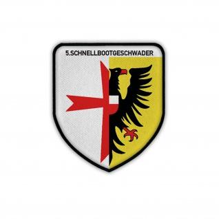 Patch / Aufnäher 5 Schnellbootgeschwader Marine Bundesmarine Wappen #19926