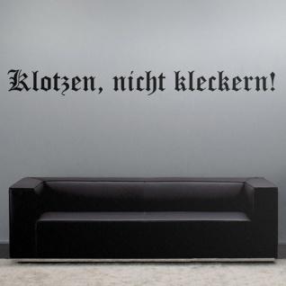 klotzen, nicht kleckern! Engagement Einsatz - Wandschmuck (ca. 120x12 cm) #8101