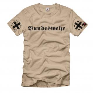 Bundeswehr mit BK Ärmeldruck BW deusche Armee Militär Einheit T-Shirt #1167