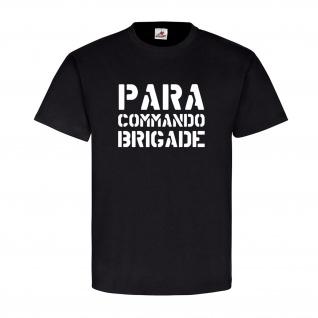 PARA COMMANDO BRIGADE Belgien Fallschirmjäger Luftlandeeinheit - T Shirt #11159