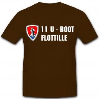 11. U-Flottille U-Boot Unterseeboot Deutschland - T Shirt #1636