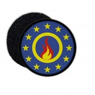 Patch Europa Feuerwehr EU Abzeichen Sterne Flamme Fahne Berufs Freiwillige#24395