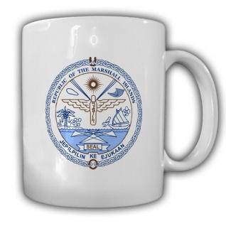 Republik Marshallinseln Wappen Emblem Inselstaat Kaffee Tasse #13745