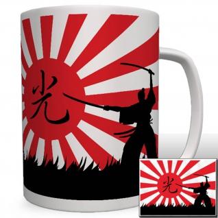 Samurai Krieger Japan Flagge Fahne Sonne Kung-Fu Karate Kampfsport Tasse #16540