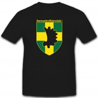 Heeresunteroffizierschule 1 Münster Bundeswehr Offizier Heer BW - T Shirt #1553