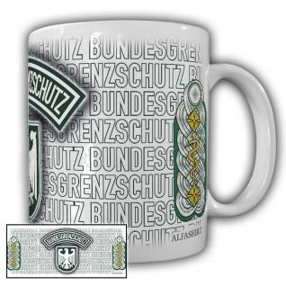 Tasse Oberstarzt BGS Bundesgrenzschutz Wappen Abzeichen Schulterklappe #23715