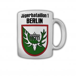 Tasse Jägerbataillon 1 Berlin JgBtl Bundeswehr Wappen Abzeichen Reservist #30109