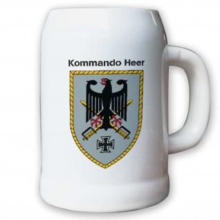 Krug / Bierkrug 0, 5l -Bierkrug Kommando Heer KdoHeer Einheit Bundeswehr #13020