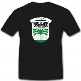 Deutsch-Togo Deutschland Deutsche Kolonie Wappen Preußen - T Shirt #7545