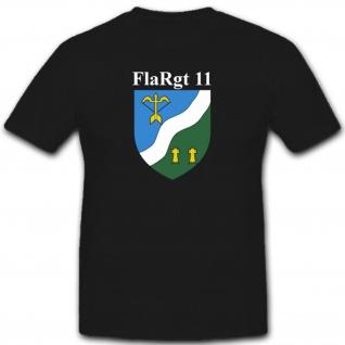 Emblem Wappen Abzeichen Militär Bundeswehr Einheit FlaRgt 11 - T Shirt #3477