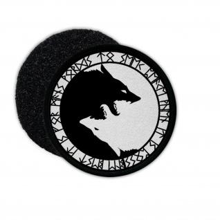 Patch Geri und Freki Yin und Yang Wikinger Nordische Mythologie Klett #27396