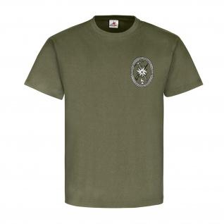 Gebirgsjäger allgemein GebJg Edelweiß Gams Wappen Abzeichen - T Shirt #18520
