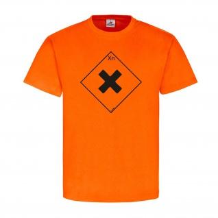 Gesundheitsschädlich Xn Chemie Zeichen Logo Flamme Brand T-Shirt #23919