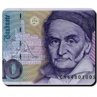 10 Mark Deutsche Mark Schein Währung Carl Friedrich Gauß Geld Mauspad #16345