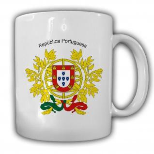 Portugal Wappen Portugiesische Republik Kaffee Becher Tasse #13866