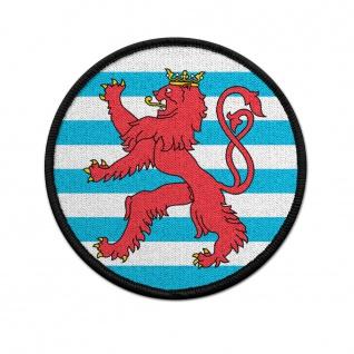 Patch Luxemburg Kokarde Klett Uniform Löwe rund #38392