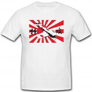 Japan Kampfruf Schrei Kamikazi Flugzeug Luftwaffe - T Shirt #3002