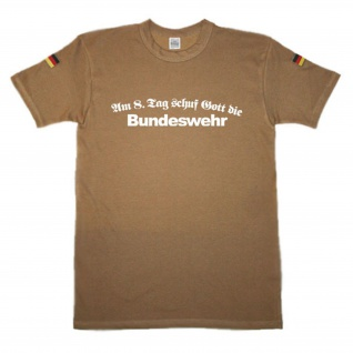 BW Tropen Am 8ten Tag schuf Gott die Bundeswehr Militär Soldat original #14747