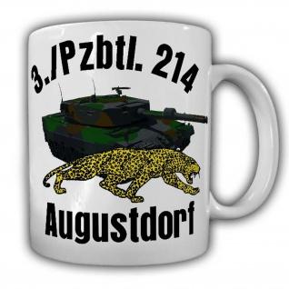 Tasse 3 Pzbtl 214 Augustdorf Tiger Panzer Heer Bundeswehr Deutschland Bund#24869