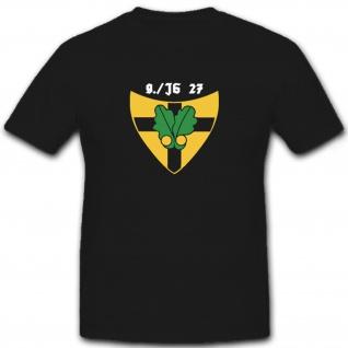 9 Staffel Jagdgeschwader 27 JG Luftwaffe - T Shirt #6518