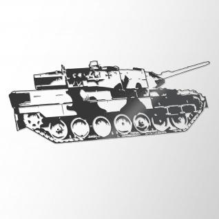 Wandtattoo Leo2 Panzer Bundeswehr Leopard Aufkleber Deko PzBtl 45x110cm #A4862