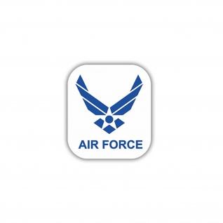 Aufkleber/Sticker Air Force US Luftwaffe Militär Soldaten Wappen 7x7cm A935