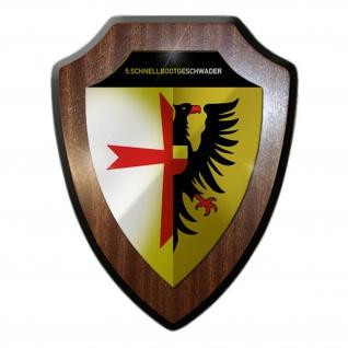 5 Schnellbootgeschwader Marine Bundesmarine Abzeichen Wappenschild #19927