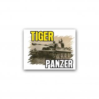 Aufkleber/Sticker Tiger Panzer Deutschland Militär 9x7cm A2029