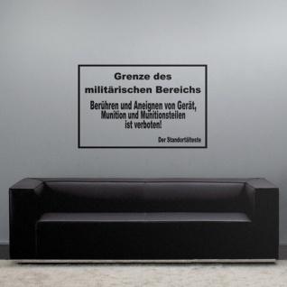 Grenze Militärischer Bereich Warnschild Armee Bundeswehr -(ca. 45x69cm ) #3776