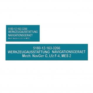 Lackierschablone Werkzeugausstattung Navigations Gerät 15, 5x5cm 14, 5x2cm #A5407