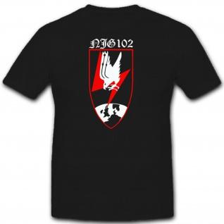 Njg 102 Nachtjagdgeschwader Wk Militär Einheit Wappen Abzeichen T Shirt #2289