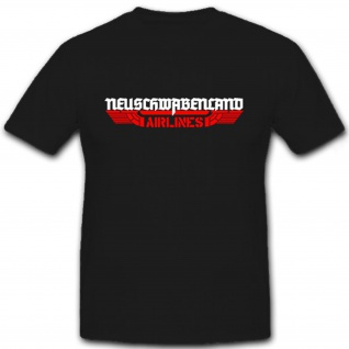 Neuschwabenland Airlines Logo - T Shirt #7061