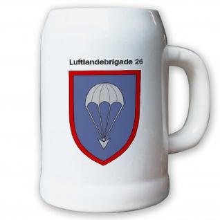 Krug / Bierkrug 0, 5l -Bierkrug Luftlandebrigade 26 Einheit LLBrig 26 #12970