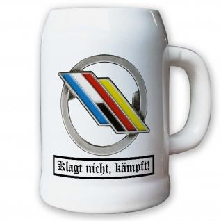 Krug / Bierkrug 0, 5l - Barettabezeichen DF Brigade Deutsch Französische #10912