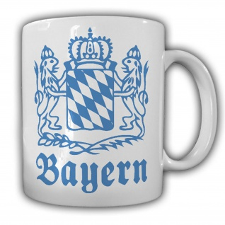 Tasse Bayern Wappen Emblem Löwen Königreich Freistaat München #22405